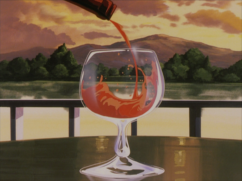 The glass of wine will be well animated, nothing else.